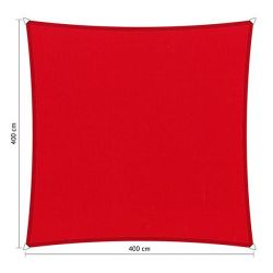 Shadow Comfort waterafstotend vierkant 4x4 Rood