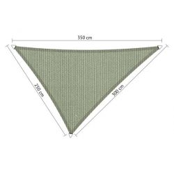 Driehoek shadow comfort moonstone groen 2,5x3x3,50m