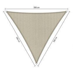 Shadow comfort driehoek Sahara Sand 3,00x3,00x3,00m