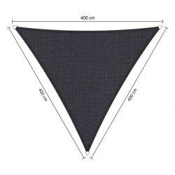 Shadow comfort driehoek Carbon Black 4,00x4,00x4,00m
