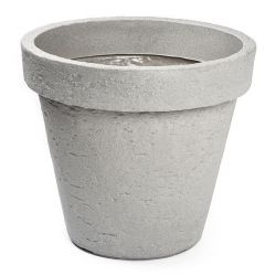 Nampook bloempot Classic 40 cm kunststof grijs