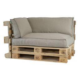 2L Home & Garden Armleuningkussen Metro Lounge Beige - 60 x 40cm