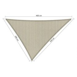 Shadow Comfort driehoek 3x3,5x4m Sahara Sand